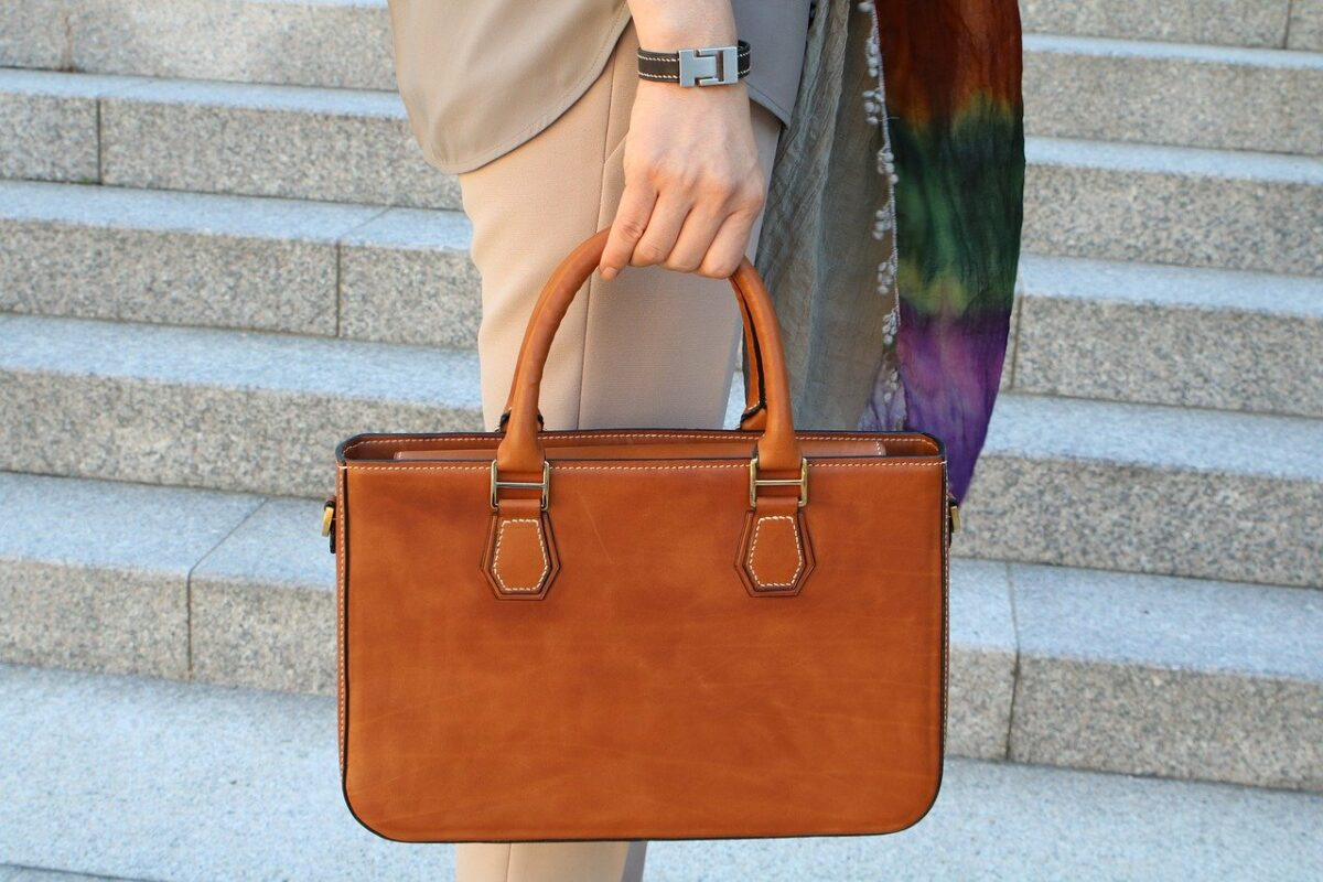 sac marron cuir