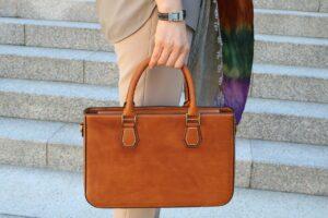 sac marron cuir